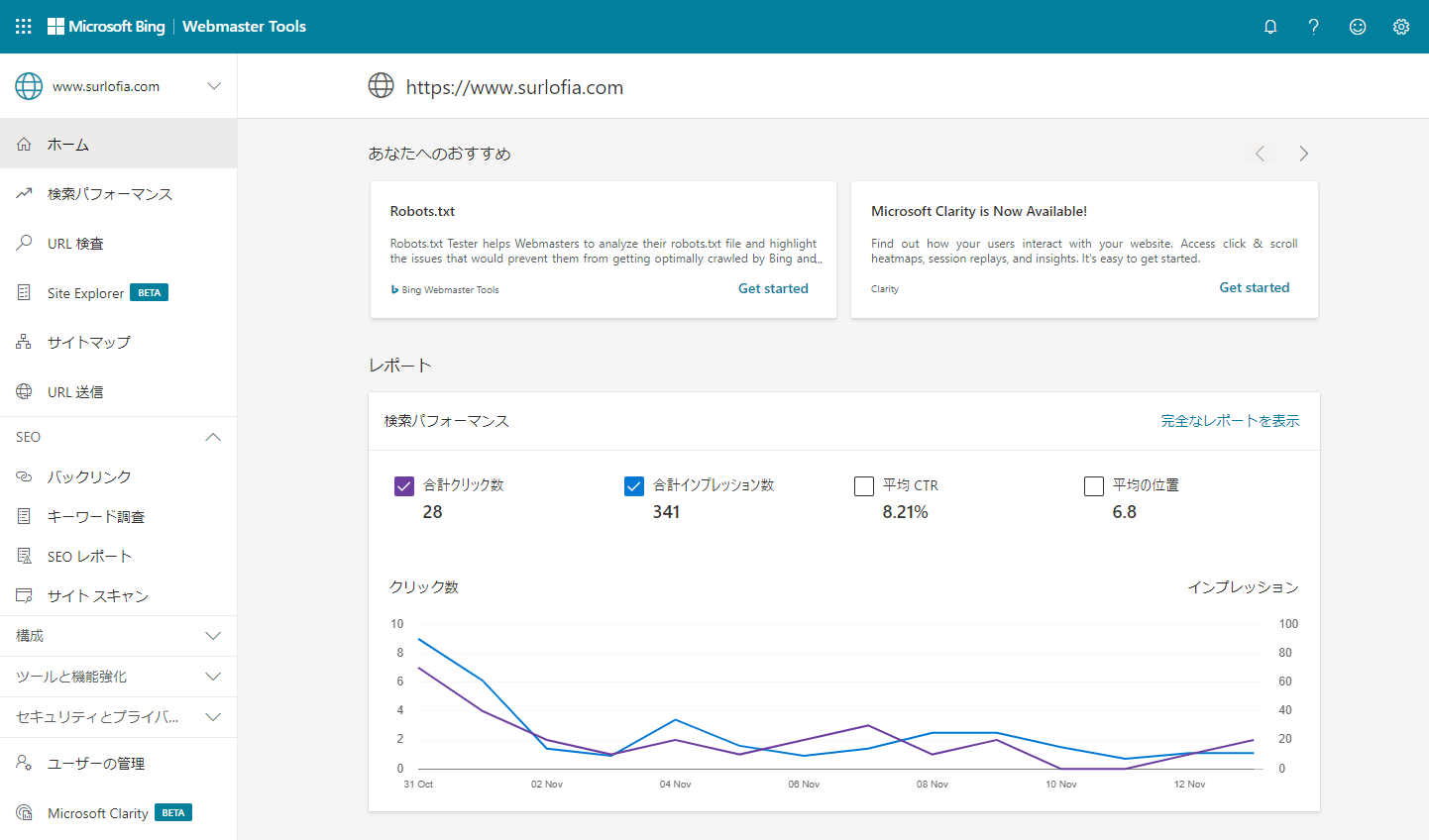 Google インデックス登録に代わる方法 Microsoft Bing Web Master
