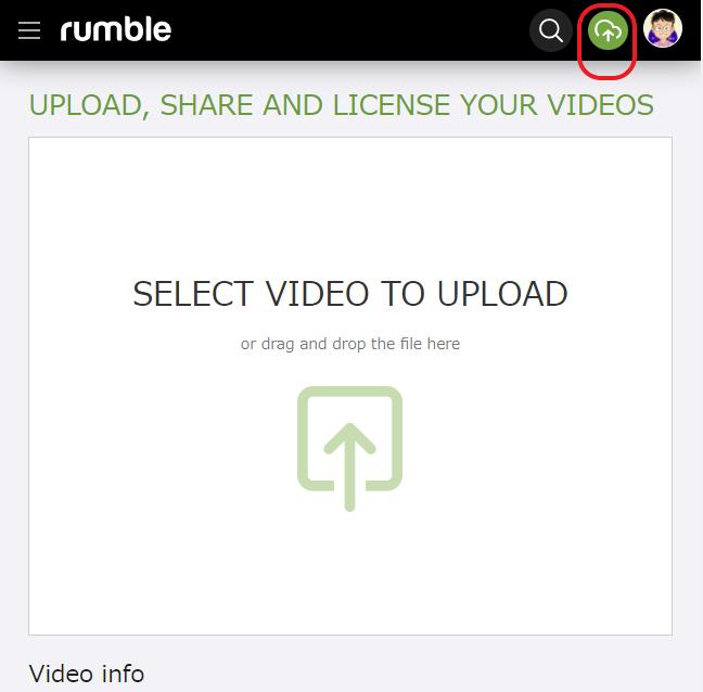 Rumble 動画をアップする方法 その1