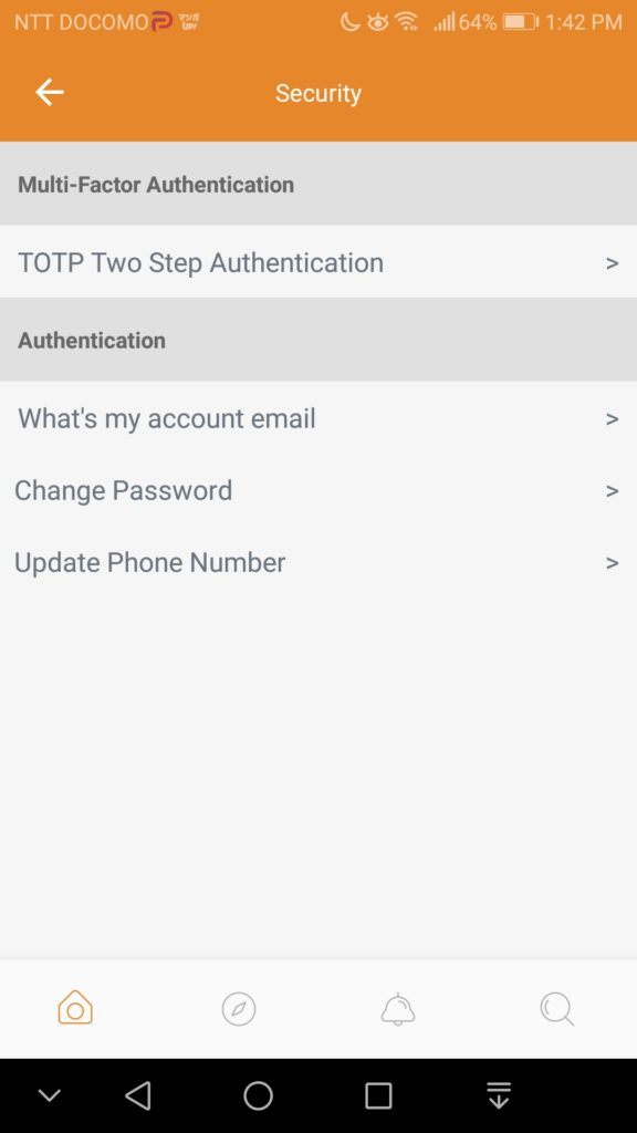 Parler Setting Preferences -2 Security