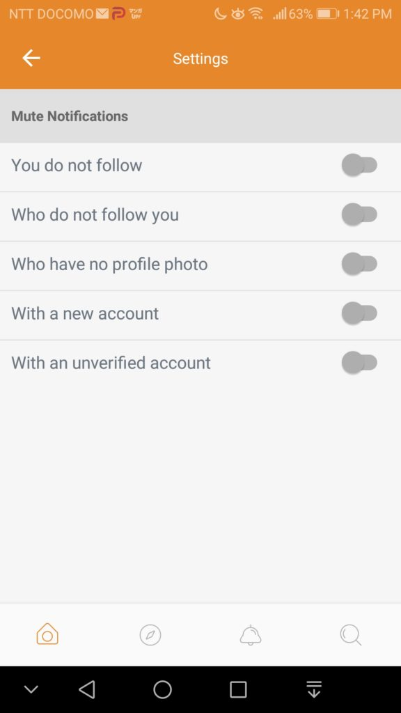 Parler Setting Preferences -5 Mute Notifications