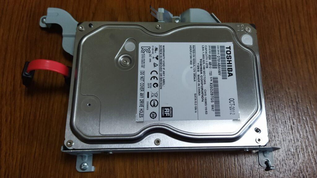 東芝ブルーレイ DBR-T350 HDD その1
