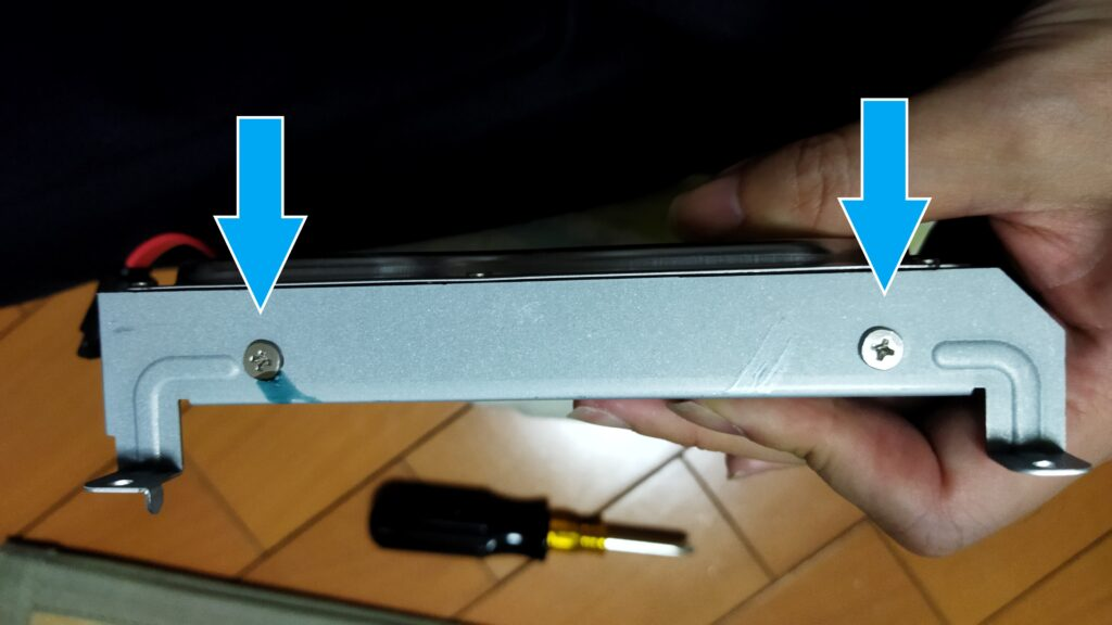 東芝ブルーレイ DBR-T350 HDD その3 ねじ3と4
