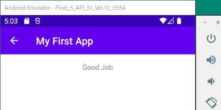 アプリを実行する-2